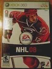 NHL 08 (Microsoft Xbox 360, 2007) Hockey Video Game Sports fans Ea Nhlpa ntsc
