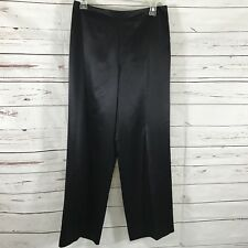 Vintage Talbots Petites Women's Dress Pants 100% Silk Black Size 6P NWT