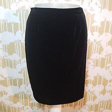 Vintage 90's R & K Evening Women's Black Velvet Skirt Size Small Victorian Goth