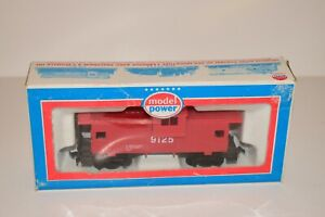 HO Scale Model Power Caboose Red Safety # 9125