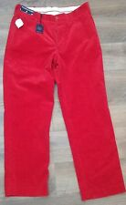 Polo Ralph Lauren Red Straight Fit Corduroy Pants Mens 34x30 NWT NEW