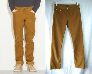 A.P.C apc PARIS Men's Cotton Cords Corduroy Pants Jeans Trousers INCU sz 32