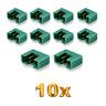 10 Stück MPX Male Stecker M6 6PIN Multiplex Style 6 Polig 35A Grün Plug Buchse