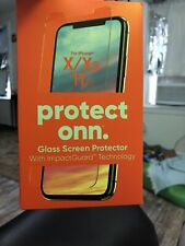 Protect Onn Glass Screen Protector With Impact Gaurd Iphone X/XS 11 Pro New