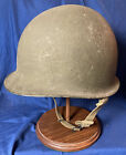 WWII M1 US Army Helmet. Stamped 653A. Liner Marked MA8