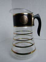 Vintage MCM David Douglas 8-Cup Coffee Percolator Flame-proof Glass Pot Gold/Blk