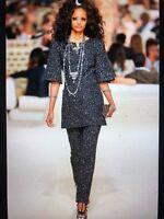 Chanel 15C DUBAY NEW Tweed Black Multicolor Sequin pants Lining FR34-FR38 $4K