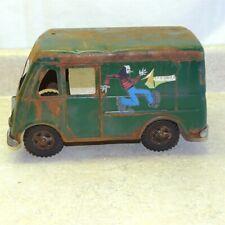 Vintage Tonka Metro Van Aerosmith Band Travel Custom, Pressed Steel Toy