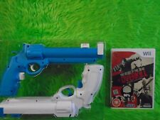 wii HOUSE OF THE DEAD Overkill + 2 NEW REVOLVER Hand Cannon GUNS PAL