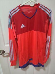 Adidas Soccer Goalie Jersey Climalite Youth M Long Sleeve Padded Shirt Orange