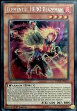 "Yugioh! TCG ""Elemental HERO Blazeman"" WSUP-EN032 Prismatic Secret Rare NM"