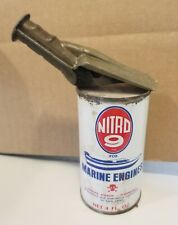 ORIGINAL NITRO 9 MARINE OIL CAN WITH SPOUT *GAS & OIL