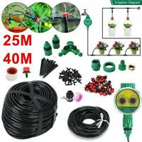 40/25M Automatic Drip Irrigation Watering Garden Plant Greenhouse Splitter Set