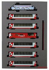 Kato 10-1219 Swiss Alps Glacier Express UNESCO World Heritage 7 cars N scale F/S
