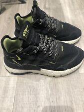 Adidas Nite Jogger J Trainers Black Uk 3.5 Junior