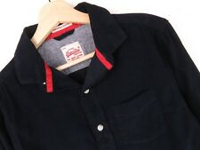 rp1741 SUPERDRY camisa top casual azul marino pana Original Premium Talla S