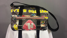 Harajuku Lovers Crossbody Graphic Bag Black Multi Colored Purse