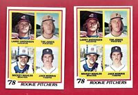 JACK MORRIS 2 CARD LOT 1978 TOPPS #703 ROOKIE & HOF MLB BASEBALL