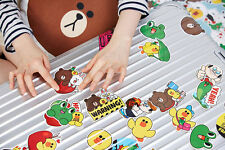 LINE Friends STICKERS Set 1 Naver App Character Decor DIY Accessary Luggage Note
