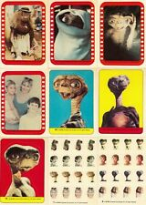 E.T Extra Terrestrial - Complete 12 Sticker Card Set - 1982 Topps - NM