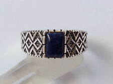 Lapis Lazuli Band Sterling Silver Fine Rings