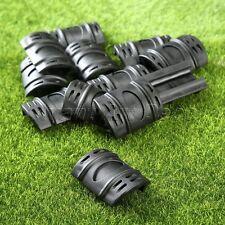 12x Black Hunting Weaver Picatinny Rubber Handguard Quad Rail Protector Covers