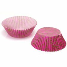 100 x Eddington Small Mini Paper Fairy Cake Cupcake Muffin Cases Pink Gold Swirl