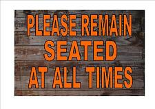 Roller Coaster Vintage Fairground Sign Remain Seated Sign