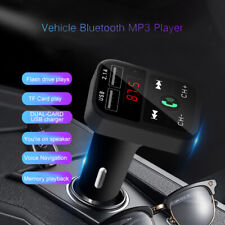 Bluetooth Car FM Transmitter Wireless Adapter USB Charger Mp3 Player 2.1A