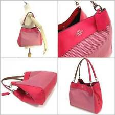 Paypal Coach Bag F57540 Lexy Shoulder in Legacy Jacquard Bright Pink Agsbeagle