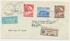 YUGOSLAVIA 1949 UPU SET ON FIRST DAY COVER, REG TO USA (SEE BELOW)