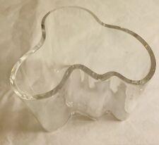 "Alvar Aalto Iittala Glass Scandinavian Free Form Modernist Glass Vase 3 3/4"""