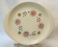 Stetson USA Mid Century Hand Painted Dinnerware STARS Rare Handled Serving Plate
