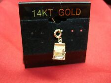 14K ROSE/WHITE GOLD 3D OLD FASHIONED CASH REGISTER CHARM - VERY DETAILED - NEAT