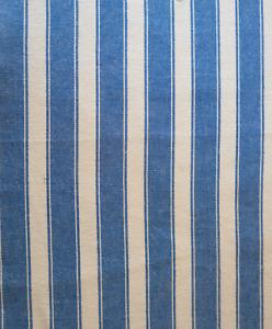 Upholstery Fabric - Stripe Cotton Blue (16m) ***$7.00/metre***