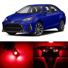 8 x Red LED Interior Lights Package For 2001 - 2017 Toyota Corolla + PRY TOOL