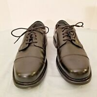 """Hunter's Bay Leather Collection CapToes Lace-up Men""""s Dress Shoes Black SZ 12 W"""