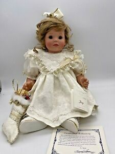 """Susan Wakeen Collectors Doll """"Joy"""" , 20"""" Christmas baby doll with box numbered"""