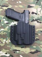 Black Kydex Light Holster for Glock 17 22 31 Streamlight TLR-4 Laser Light