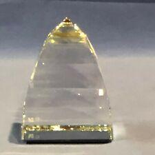 Swarovski Silver Crystal Small Clear Pyramid Paperweight #7450 Nr 40095 Rare