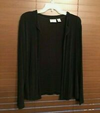 Women's CHICO'S Travelers Black Open Front Top. Size 2 (like 12).  PRETTY!