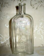 Antique Hair Tonic and Dandruff Remedy Bottle Late 1800's to Early 1900's