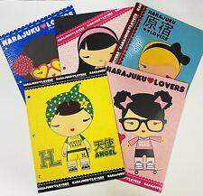 "Harajuku Lovers Binder Folders 3 Ring Pocket 12"" x 9.5"" Lot of 5"