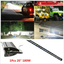"1Pcs Single Row 20"" 180W Ultra Slim Led Light Bar Offroad ATV SUV 4x4 Truck"