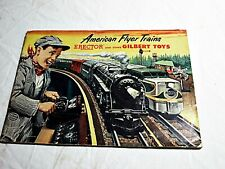VTG 1953 AMERICAN FLYER TRAINS ERECTOR AND OTHER GILBERT TOYS CATALOG