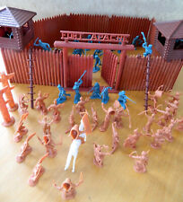 Vintage original Marx 54mm Fort Apache playset fort toy soldiers & Indians