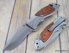 7.75 INCH MTECH SPRING ASSISTED TACTICAL RESCUE KNIFE WITH POCKET CLIP