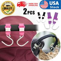 Stroller Hook - 2 Pack of Multi Purpose Hooks - Hanger for Baby Diaper Bags