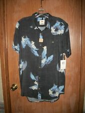 "NWT RUSTY MILES BLUE ""MELODIOUS"" SHORT SLEEVE SHIRT TALL FIT SZ MEDIUM Ret. $57."