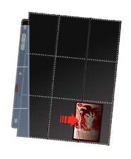 10x 18-Pocket Side-Load Black-backed Single Pages Ultra Pro Premium Card Storage